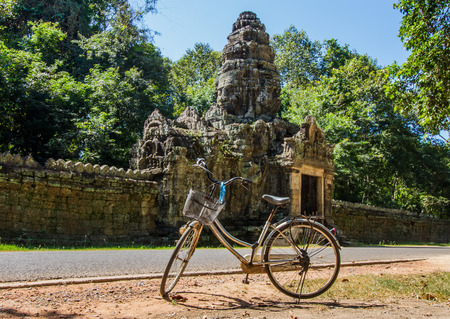 Bicycle parking in front of Banteay Kdei.