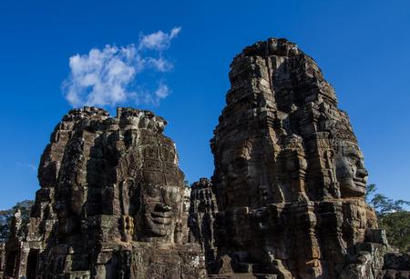 prasat bayon: Prasat Bayon  on blue sky background.