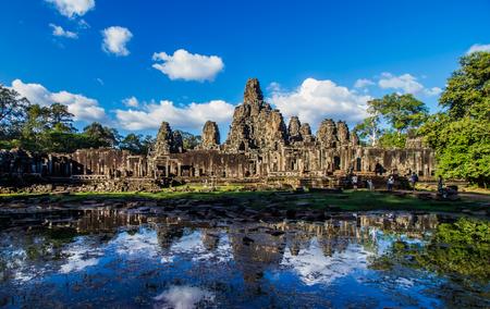 prasat bayon: SIEM REAP,CAMBODIA-NOVEMBER 30 : Tourist visiting Prasat Bayon  in Siem Reap ,Cambodia on November 30,2015.Prasat Bayon is tourist attraction in Angkor Thom.