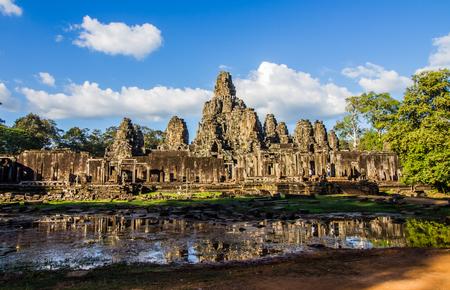 temple: SIEM REAP,CAMBODIA-NOVEMBER 30 : Tourist visiting Prasat Bayon  in Siem Reap ,Cambodia on November 30,2015.Prasat Bayon is tourist attraction in Angkor Thom.