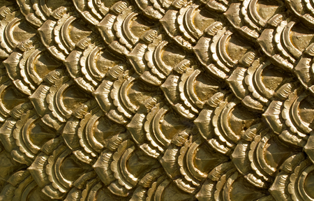 fish scale: Fish scale in Thai art style in the temple. Editorial