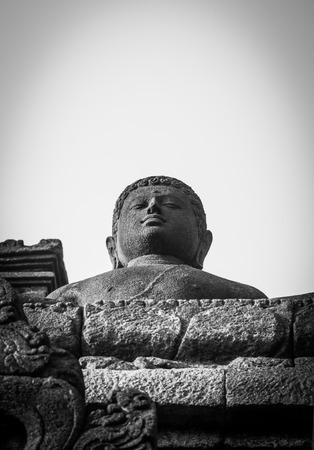 YOGYAKARTA: Buddha image of Borobudur in Yogyakarta,Indonesia.