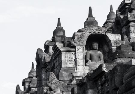 jakarta: Buddha image of Borobudur in Yogyakarta,Indonesia.