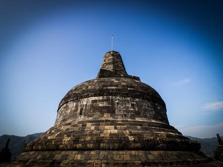 YOGYAKARTA: Stupa at Borobudur in Yogyakarta,Indonesia.