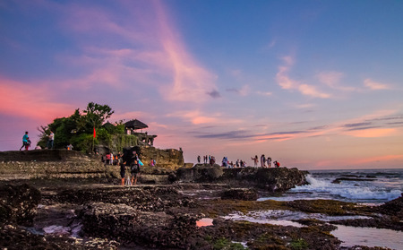 pura: Pura Tanah Lot in Bali,Indonesia. Stock Photo