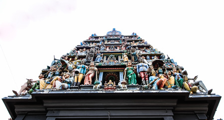 mariamman: The Sri Mariamman Hindu Temple on South Bridge Road in the Chinatown District of Singapore. Editorial