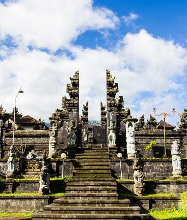 Holy door facade in Pura Besakih,Bali.