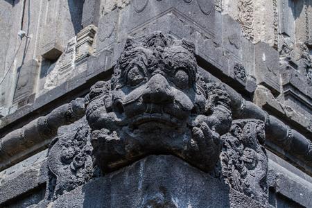prambanan: Stone carvings in Prambanan temple. Stock Photo