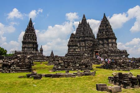 prambanan: YOGYAKARTA,INDONESIA-AUGUST 28 :Tourist come to visit Prambanan temple in Yogyakarta,Indonesia on August 28,2016. The Prambanan temple is the largest Hindu temple of ancient Java.