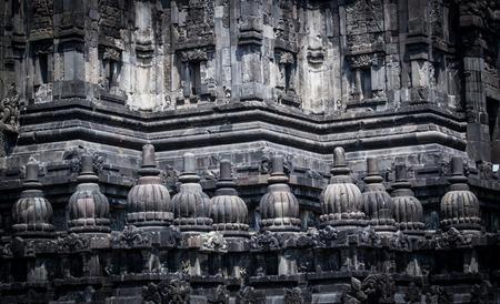 prambanan: Detail of Prambanan temple in Yogyakarta,Indonesia. Stock Photo