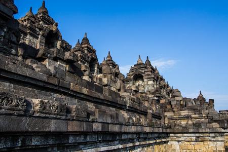 Borobudur s World Herritage in Yogyakarta,Indonesia.