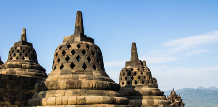 Stupas at Borobudur in Yogyakarta,Indonesia.