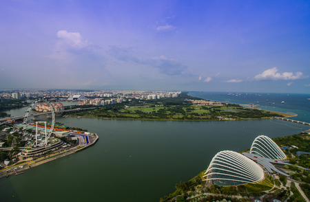 singapore august 29 bird eyes view of marina bay in singapore on august 29