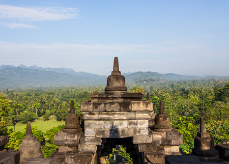 View from the top of Borobudur.