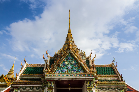 Grand palace roof decoration in Bangkok,Thailand.