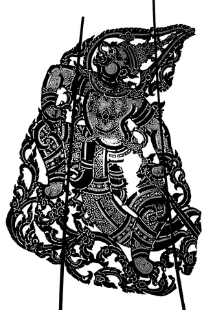 Thai style shadow puppet detail.