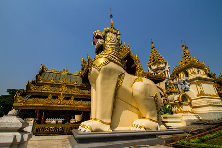 no entrance: Shwedagon Pagoda South Entrance in Yangon, Myanmar. Editorial
