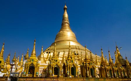 Shwedagon Pagoda  in Yangon, Myanmar. Stock Photo