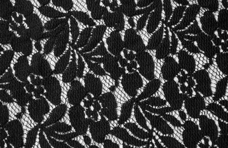 Lace textile close up background. Stock Photo