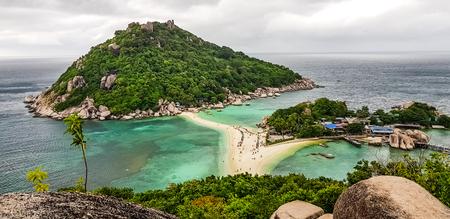 View of Koh Nang Yuan viewpoint ,Thailand.