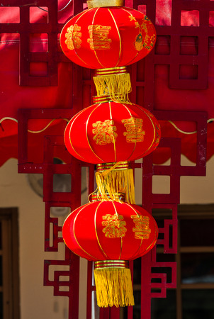 Chinese lantern in Chinese temple.