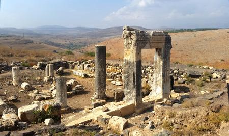 galilee ancient synagogue at Mount Arbel