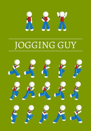 sprite: Jogging y de pie hoja de sprites chico stickman