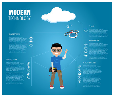 inforgraphic: An inforgraphic about basic modern technology pieces
