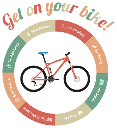 Advantages of riding a bicycle or bike, be healthy, save nature, save money, see sights, no traffic jams and so on.