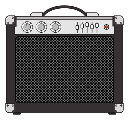 Electric guitar and bass amplifier for concerts and festivals