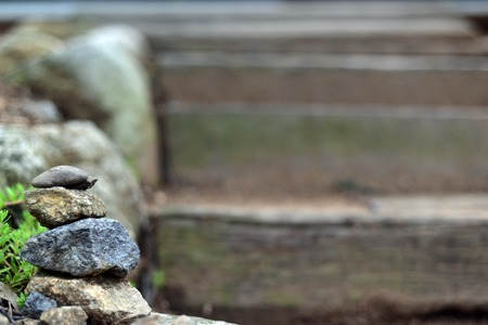 build up: The concept of balance and harmony. The human desire to build up a natural rock