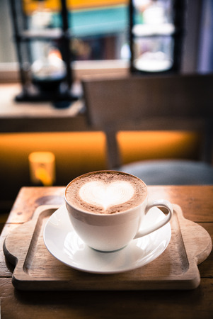 Cup of coffee with love, cappuccino Stock Photo