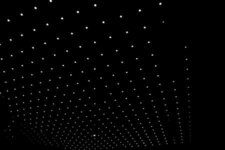 leds: muro negro y el LED de White