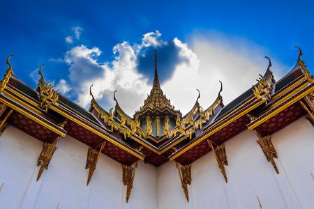 gable: Beautiful gable of emerald temple