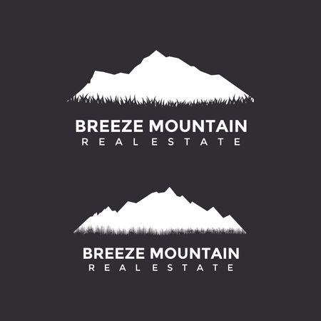 Mountain real estate logo concept template design.