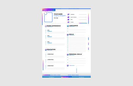Curriculum Vitae Portfolio Minimalist Vector Template