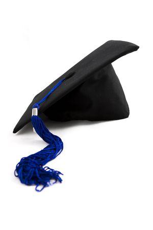 Graduation cap with blue tassel Stock Photo - 2286594