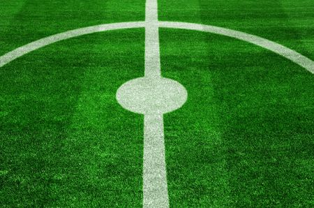 The center spot on a football pitch