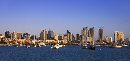 San Diego Marina on a late summer afternoon