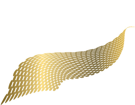 two and a half: Elegant gold metallic wave made from dots