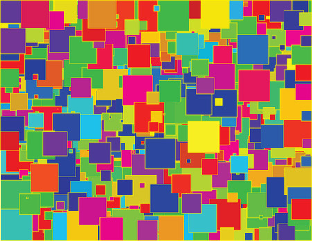 Vector - colorful background of random squares Ilustrace