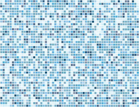 Vector - mosaic of square tiles in subtle blue colors with random distribution