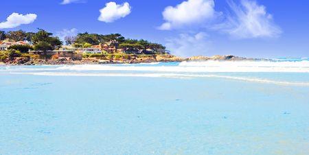 california beach: Beautiful summer day in Carmel, California