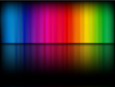 rainbow background: Vector - rainbow gradient on a black background with shiny reflection