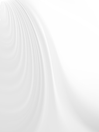 Vector - folds of delicate white satin with copyspace
