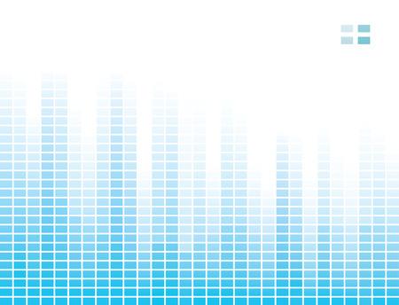 Versatile design with blue equalizer bands