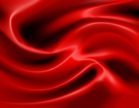 wavy fabric: Vector illustration of luxurious swirls of red satin