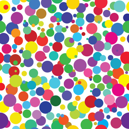 coloured: Vector - Seamless retro background of colorful dots Illustration