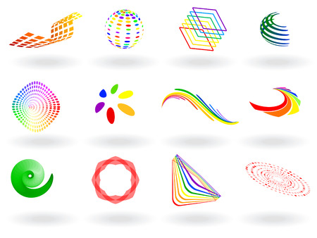 Vector - collection of colorful 3D vector icons