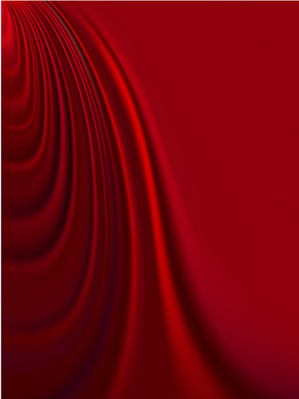 Vector - luxurious folds of red satin, with smooth copy space